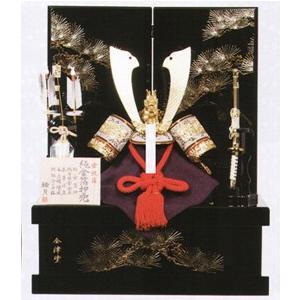五月人形 兜飾り 純金箔押(赤) NO9 平井旗