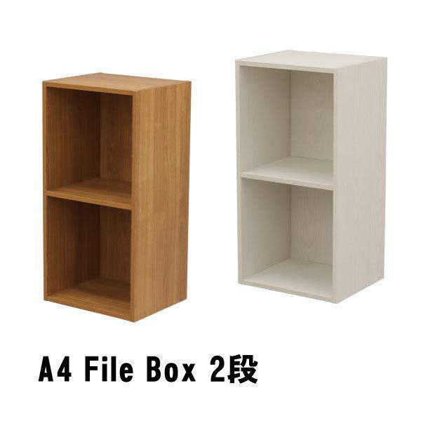 カラーボックス 2段 A4ファイル 収納 収納ケース テレワーク 本棚 送料無料 スリム オープンラック おしゃれ 本棚|unit-f