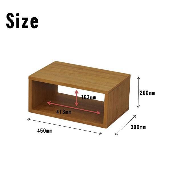 オープンラック 木製  幅45 奥行き30 高さ20 おしゃれ ディスプレイラック オープンシェルフ 一段 DIY 北欧 OPR-4520|unit-f|05