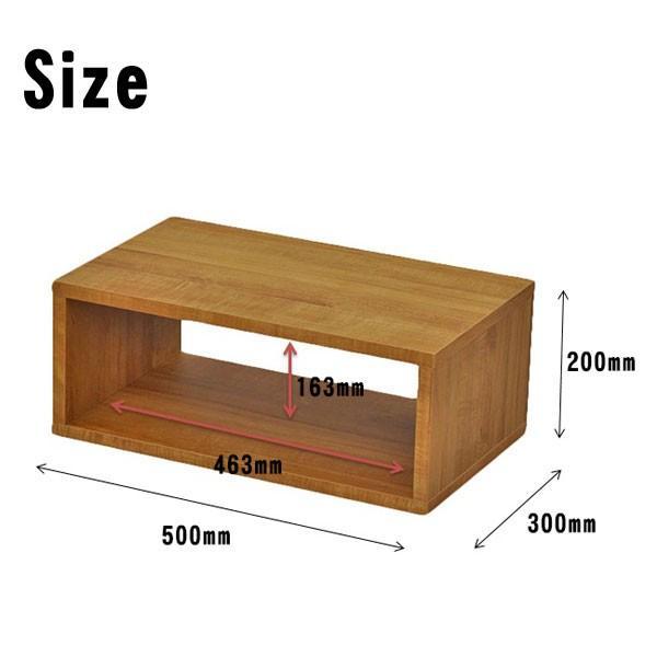 オープンラック 木製  幅50 奥行き30 高さ20 おしゃれ ディスプレイラック オープンシェルフ 一段 DIY 北欧 OPR-5020|unit-f|05