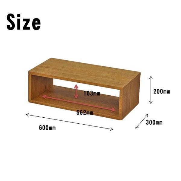 オープンラック 木製  幅60 奥行き30 高さ20 おしゃれ ディスプレイラック オープンシェルフ 一段 DIY 北欧 OPR-6020|unit-f|05