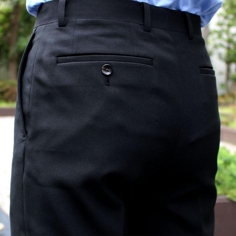 スラックス メンズ ノータック スリム 無地 ストレッチ 裾上げ済み 洗える 送料無料 SALE|united-japan|06