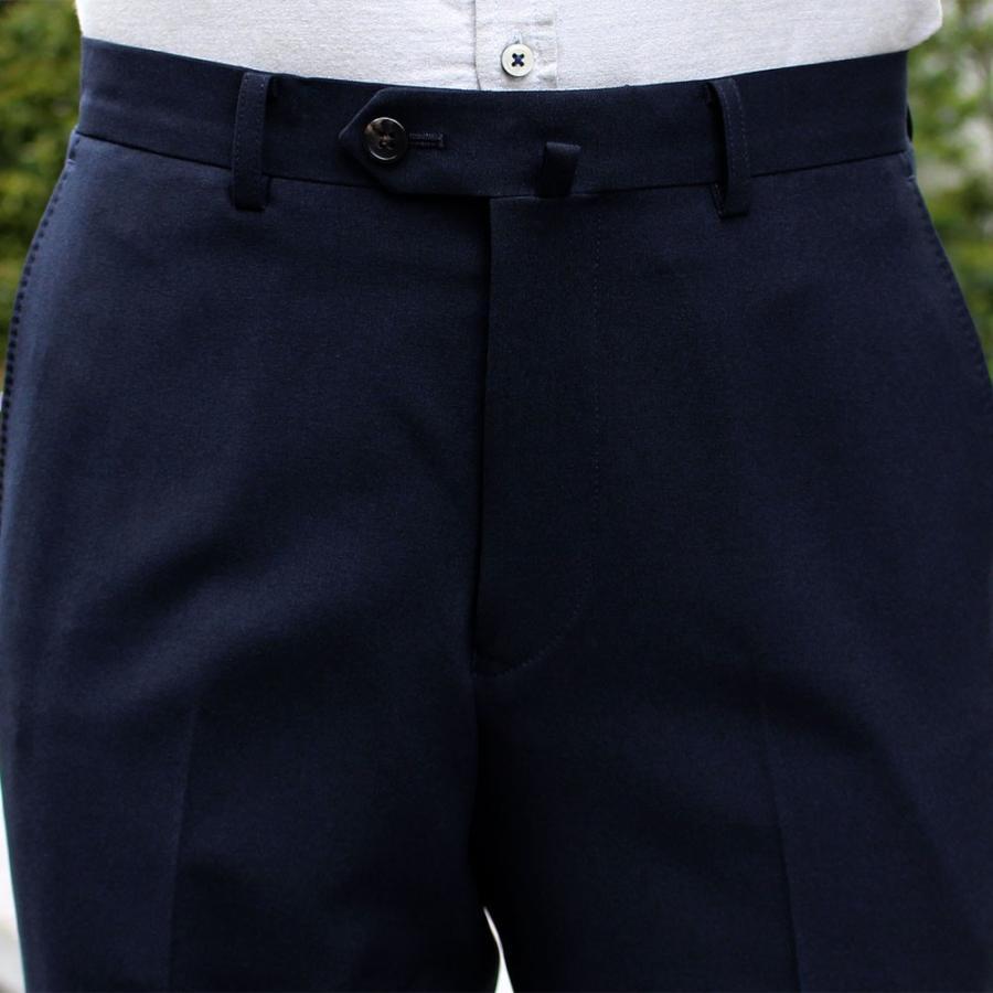スラックス メンズ ノータック スリム 無地 ストレッチ 裾上げ済み 洗える 送料無料 SALE|united-japan|09