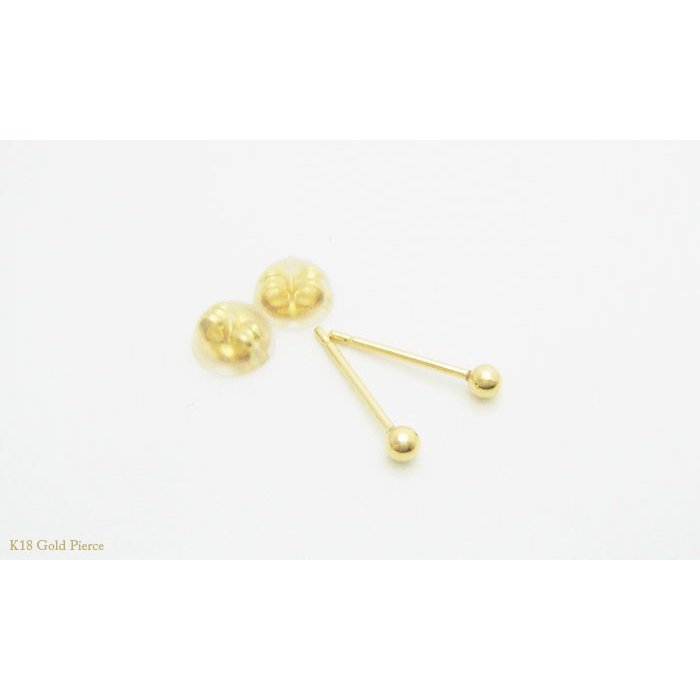 【即納】オトナのシークレットピアス K18ゴールド製の2mmの丸玉ピアス(1ペア)メール便可 united-jewellery 03