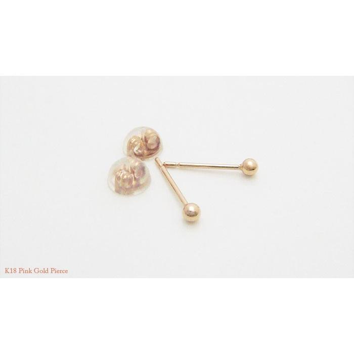【即納】オトナのシークレットピアス 肌に馴染む目立たないK18ピンクゴールド製の2mmの丸玉ピアス(1ペア)メール便可|united-jewellery|03