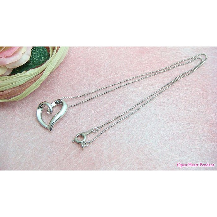 【即納】オールシルバー製立体型オープンハートペンダント メール便可 united-jewellery 03