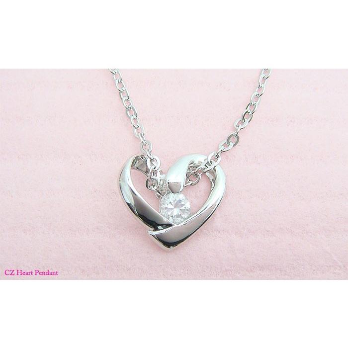 【即納】プレゼントにオススメのオープンハートペンダントネックレス メール便可|united-jewellery|02