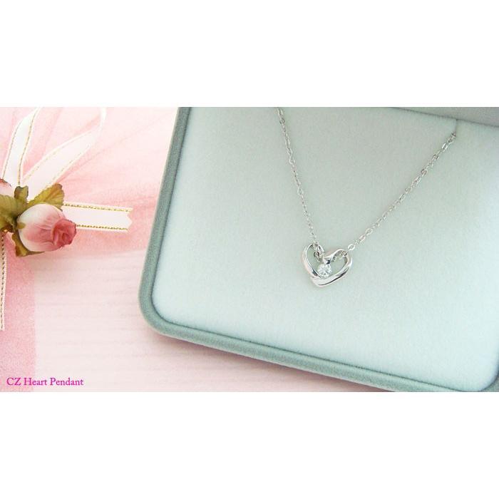 【即納】プレゼントにオススメのオープンハートペンダントネックレス メール便可|united-jewellery|04