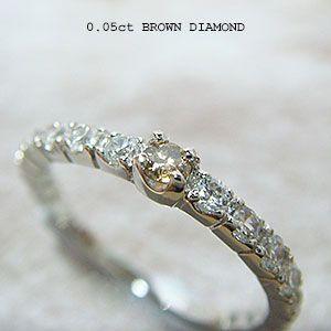 人気絶大の天然ブラウンダイヤモンドハーフエタニティリング メール便可|united-jewellery