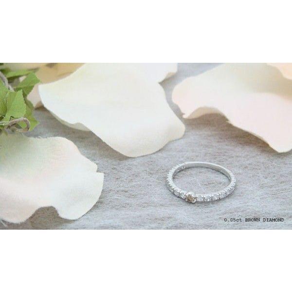人気絶大の天然ブラウンダイヤモンドハーフエタニティリング メール便可|united-jewellery|02