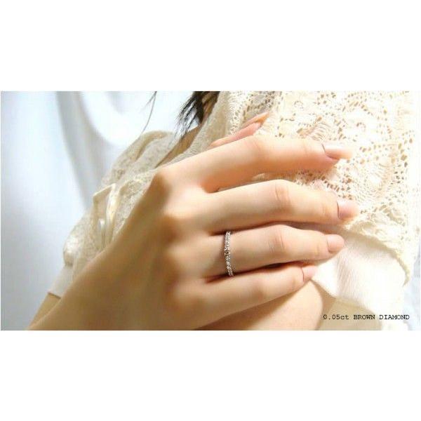 人気絶大の天然ブラウンダイヤモンドハーフエタニティリング メール便可|united-jewellery|05