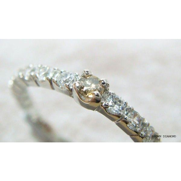 人気絶大の天然ブラウンダイヤモンドハーフエタニティリング メール便可|united-jewellery|06