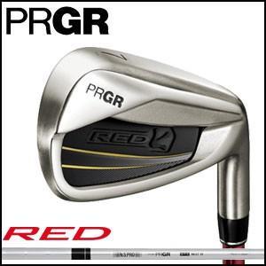 プロギア PRGR メンズ ゴルフ クラブ 赤 TITAN FACE IRON 赤チタンフェイスアイアン 5本セット #6-#9,Pw ソフトスチール