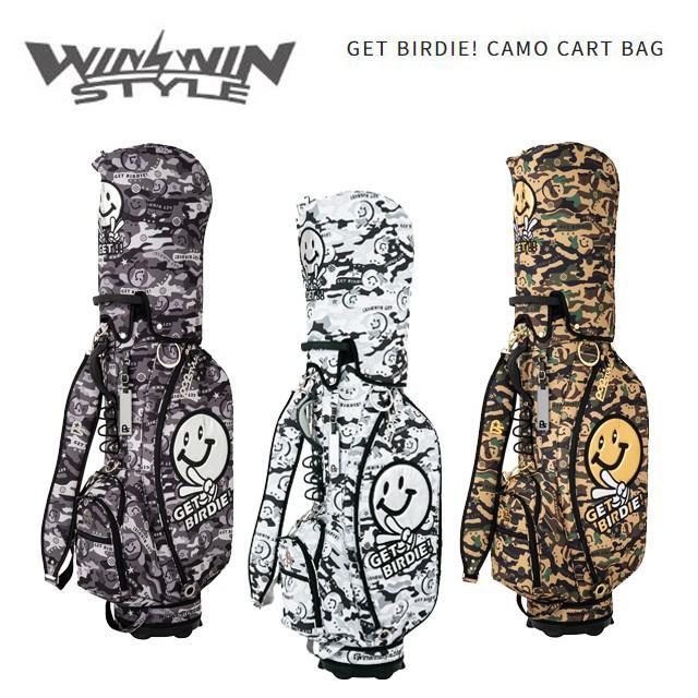 人気が高い  ウィンウィンスタイル WINWIN STYLE メンズ メンズ ピース GET BIRDIE! CAMO CB-643 CART BAG かっこいい スマイル ピース CB-643 CB-644 CB-645, 滝上町:c0c1517e --- airmodconsu.dominiotemporario.com