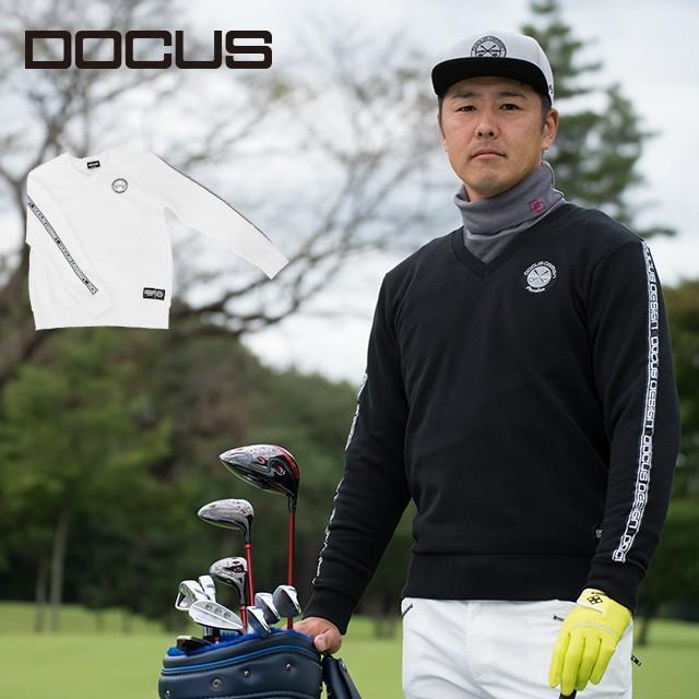 ドゥーカス ラインテープ プルオーバー メンズ 秋冬 ゴルフ ウェア 大人 かっこいい クール おしゃれ DOCUS Line Tape Pullover Sweater DCM19A002 ユナイテッド