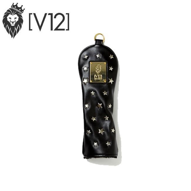 ヴィトゥエルヴ V12 ゴルフ ヘッドカバー ユーティリティ用 STAR HEAD COVER スターヘッドカバー v121720-AC03 BLACK×SILVER あすつく