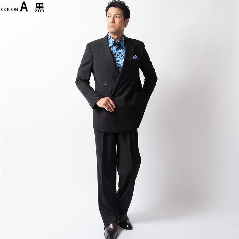 ダブルスーツ メンズ パーティースーツ ドレススーツ ゆったりシルエット ツータック ステージ衣装 結婚式 大きいサイズ 120871 1.2.3.7.8.9 送料無料 unitedgold 04