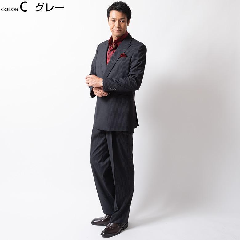 ダブルスーツ メンズ パーティースーツ ドレススーツ ゆったりシルエット ツータック ステージ衣装 結婚式 大きいサイズ 120871 1.2.3.7.8.9 送料無料 unitedgold 08