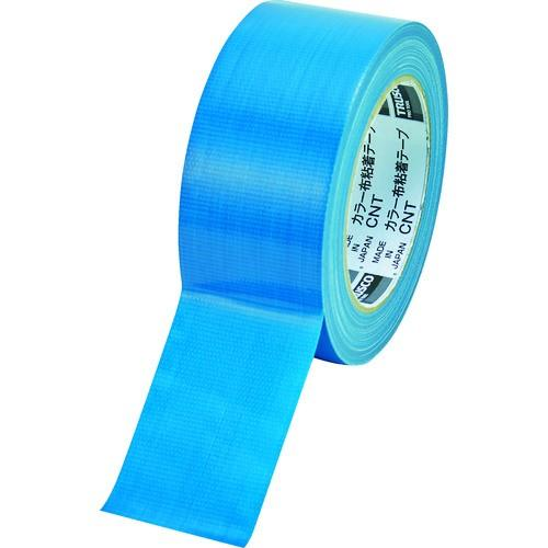 (梱包用テープ)TRUSCO カラー布粘着テープ 幅50mm長さ25m ブルー CNT-5025-B