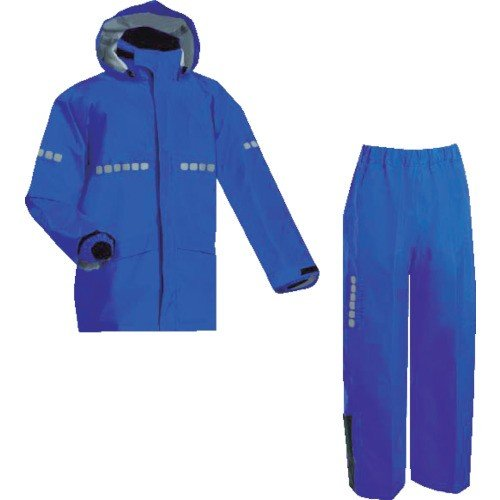 (雨具)前垣 AP1000ワーキングレインスーツ ロイヤルブルー Sサイズ AP1000R.BLUES