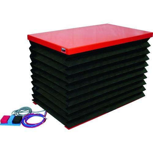 (テーブルリフト)TRUSCO テーブルリフト100kg 電動BねじDC12V蛇腹付 520×850 HDL-H1058VJD1