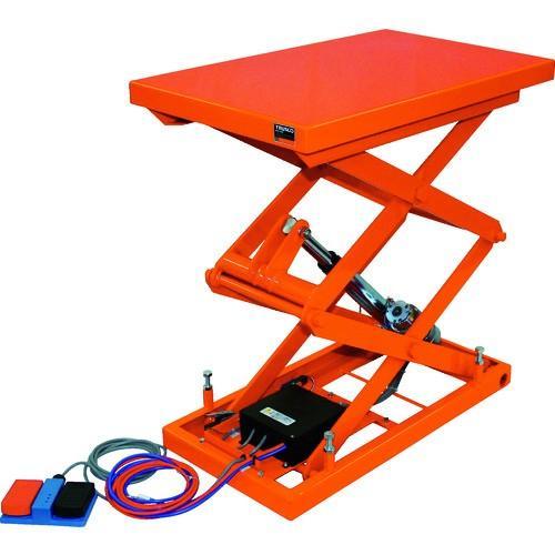(テーブルリフト)TRUSCO テーブルリフト100kg 電動Bねじ式DC12V 400×650 HDL-W1046V-D1