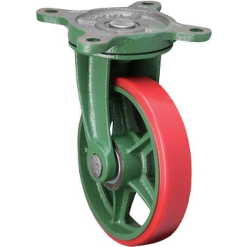 (鋳物製キャスター)東北車輛製造所 標準型自在金具付ウレタン車輪 200BRULB