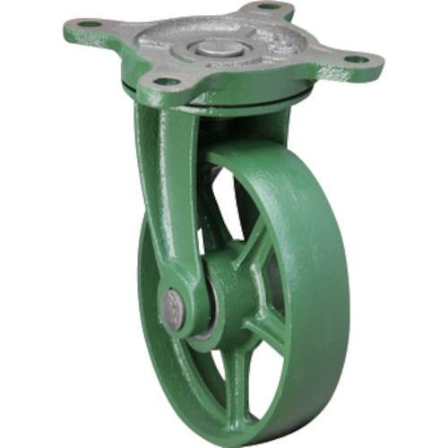 (鋳物製キャスター)東北車輛製造所 標準型自在金具付鉄車輪 250BRFB
