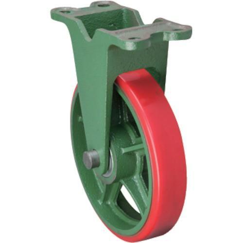 (鋳物製キャスター)東北車輛製造所 標準型固定金具付ウレタン車輪 300KULB