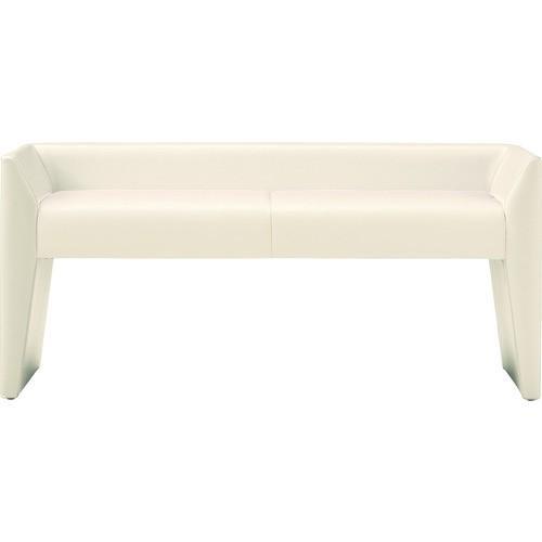 (ロビーチェア·ベンチ)TRUSCO PVCレザー張り ロビーチェア 2人掛 ホワイト ADE2A2W
