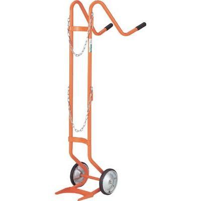 (二輪運搬車 台車)トラスコ ボンベ台車 二輪型 二輪型 二輪型 酸素用ボンベ一本積用 HT-63N a80