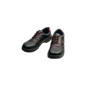 (安全靴 作業靴 保護靴)シモン Simon 安全靴 短靴 SL11−R黒/赤 24.0cm SL11R-24.0