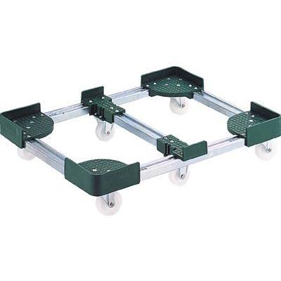 (コンテナ台車)トラスコ 伸縮式コンテナ台車 伸縮式コンテナ台車 伸縮式コンテナ台車 内寸600−700X900−1000 スチール製 FCD6-6090 e34