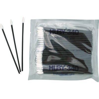 送料無料 (綿棒)HUBY フラットスワイプ(導電プラ軸使用)5000本入  FS-010MB