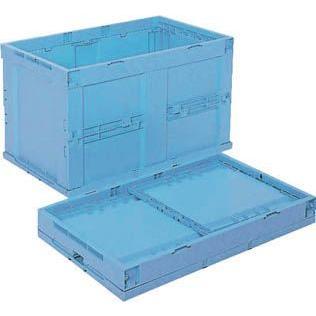 (折りたたみコンテナボックス 収納 おしゃれ)リス 折りたたみコンテナCB−S135C 青 CB-S135C