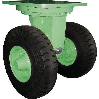 直送品 代引不可 (トレーラー)佐野車輌 超重量級キャスター ダブル自在車 荷重3000kgタイプ 284-3