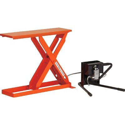 直送品 代引不可 (テーブルリフト)トラスコ スリムリフト150kg 足踏式 700X250 HLH-S15-2507