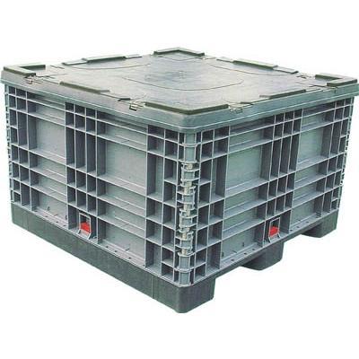 直送品 代引不可 (パレット)リス パレットボックスBJ−S 1111X70S分解収納型 グレー BJ-S・1111X70S