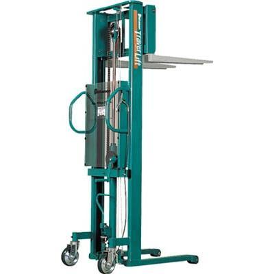 直送品 代引不可 (移動式リフター)ビシャモン トラバーリフト(手動油圧式)早送り装置付 ST38H
