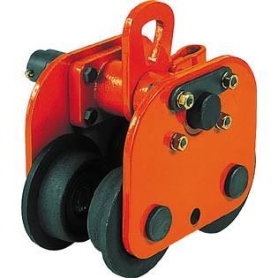 直送品 代引不可 (トロリー 吊り金具)象印チェンブロック 手動用プレントロリ5t P-05000