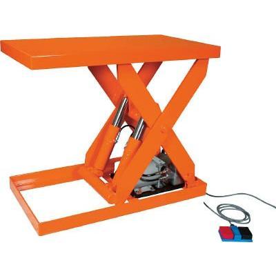 直送品 代引不可 (テーブルリフト)トラスコ テーブルリフト1000kg 油圧式 500X1050 HDL-100-0510