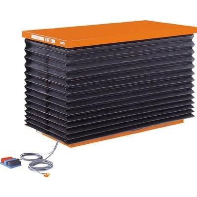 直送品 代引き不可(テーブルリフト)TRUSCO テーブルリフト1000kg 油圧式 750X1350 蛇腹付 HDL-100-0713J