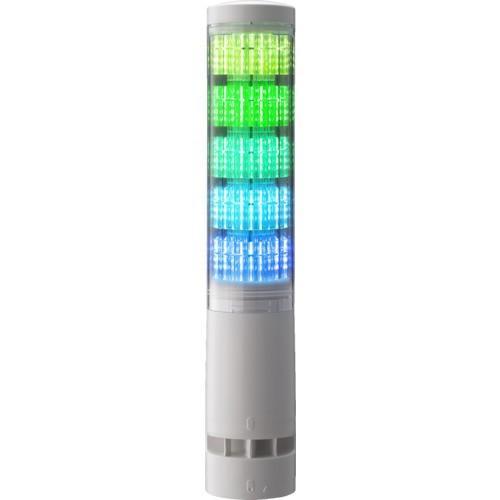 (回転灯・表示灯)パトライト LA6型積層情報表示灯Φ60 直付け・端子台・ブザーあり LA65DTNWBRYGBC