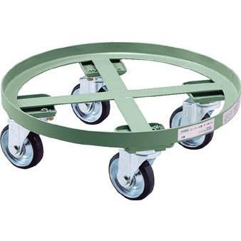 (ドラム缶運搬車)トラスコ 円形台車 全周ガイド型 荷重500kg 台寸Φ610 RC-500