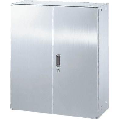 直送品 代引き不可 (保管庫)TRUSCO ステンレス保管庫(D400)両開 900XH1050 STH4-11