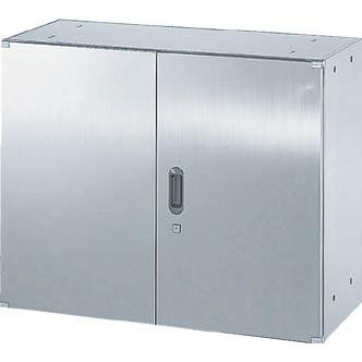 直送品 代引き不可 (保管庫)TRUSCO ステンレス保管庫(D400)両開 900XH720 STH4-7