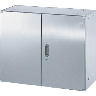 直送品 代引き不可 (保管庫)TRUSCO ステンレス保管庫(D500)両開 900XH720 STH5-7