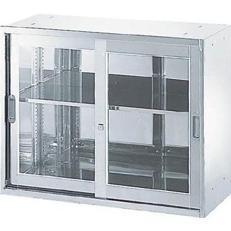直送品 代引き不可 (保管庫)TRUSCO ステンレス保管庫(D400)枠付ガラス扉 900XH720 STJ4-7