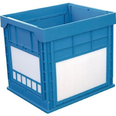 """(折りたたみコンテナ)KUNIMORI プラスチック折畳みコンテナ """"パタコン"""" N−134 ブルー 50680-N134-B"""
