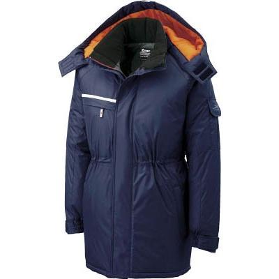 (寒さ対策用品)ジーベック 581581防水防寒コート 紺 L 581-10-L